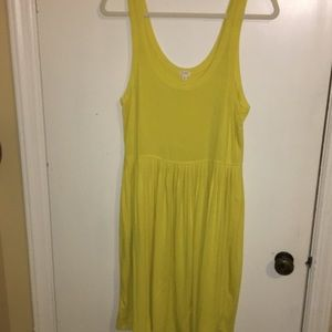 J. Crew yellow summer dress